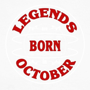 Birthday October legends born gift birth - Men's Long Sleeve Baseball T-Shirt