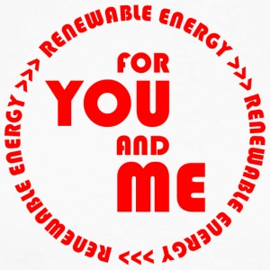 RENEWABLE ENERGY for you and me - red - Männer Baseballshirt langarm