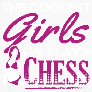 COOLEST GIRLS PLAY CHESS - Männer Baseballshirt langarm