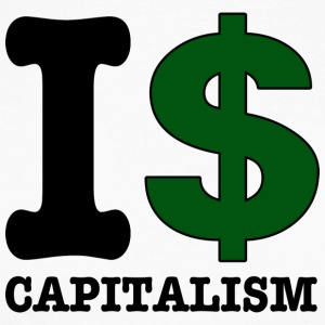 I $ capitalism - Men's Long Sleeve Baseball T-Shirt