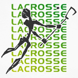 Lacrosse Player - Langermet baseball-skjorte for menn