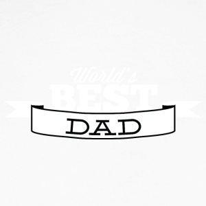 world best dad white - Men's Long Sleeve Baseball T-Shirt
