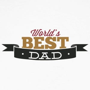 world best dad - Men's Long Sleeve Baseball T-Shirt