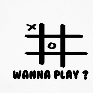Wanna play - Langærmet herre-baseballshirt