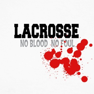 Lacrosse No Blood No Foul - Langermet baseball-skjorte for menn