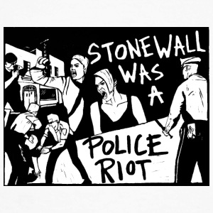 Stonewall was a police riot - T-shirt baseball manches longues Homme
