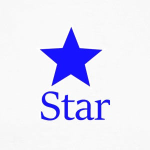 blue Star - Langermet baseball-skjorte for menn