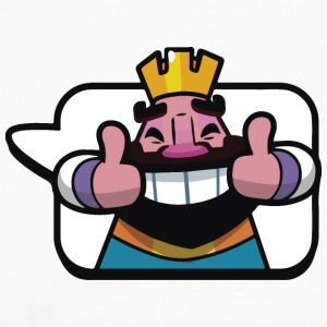 Emoticon kong Royale Clash - Langermet baseball-skjorte for menn