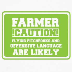 Farmer / Landwirt / Bauer: Farmer! Caution! Flying - Männer Baseballshirt langarm
