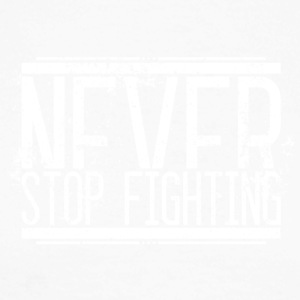Never Stop Fighting Alt Weiss 001 AllroundDesigns - Männer Baseballshirt langarm