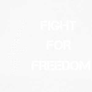 Fight for Freedom -WHITE - Men's Long Sleeve Baseball T-Shirt