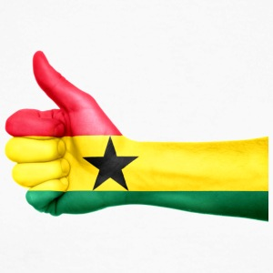 Ghana Flag - Langermet baseball-skjorte for menn