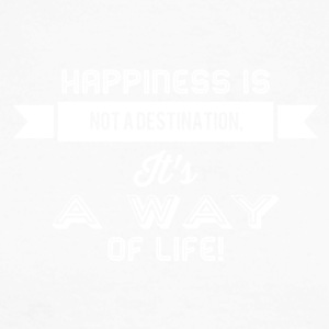 Happiness is not a destination it's a way... weiss - Männer Baseballshirt langarm