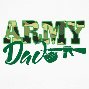Military / Soldiers: Army Dad - Men's Long Sleeve Baseball T-Shirt