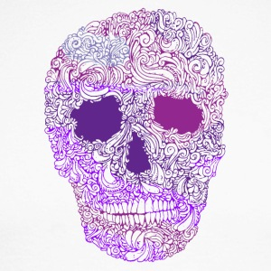 Ornement-Skull-in-Purple - T-shirt baseball manches longues Homme