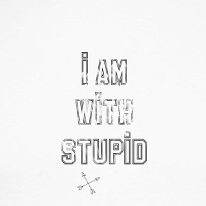 i am with stupid - Men's Long Sleeve Baseball T-Shirt
