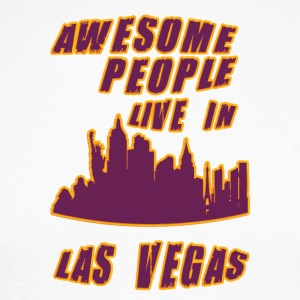 Las vegas Awesome people live in - Men's Long Sleeve Baseball T-Shirt