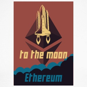 Ethereum to the moon - Men's Long Sleeve Baseball T-Shirt