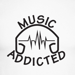 MUSIC_ADDICTED-2 - Mannen baseballshirt lange mouw