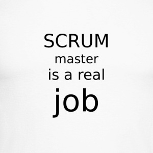 Scrum master is a real job - Men's Long Sleeve Baseball T-Shirt