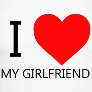 I LOVE MY GIRLFRIEND T-SHIRT - Mannen baseballshirt lange mouw