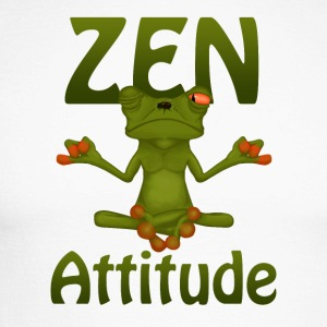 Frog Zen Attitude - Men's Long Sleeve Baseball T-Shirt