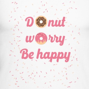 donut worry - Men's Long Sleeve Baseball T-Shirt