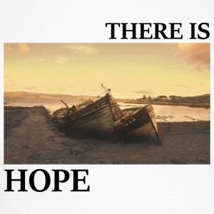 There_is_hope_picture_black_letters - Langærmet herre-baseballshirt