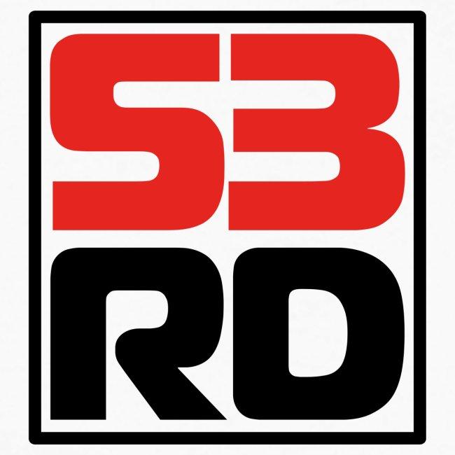 53RD Logo kompakt umrandet (schwarz-rot)