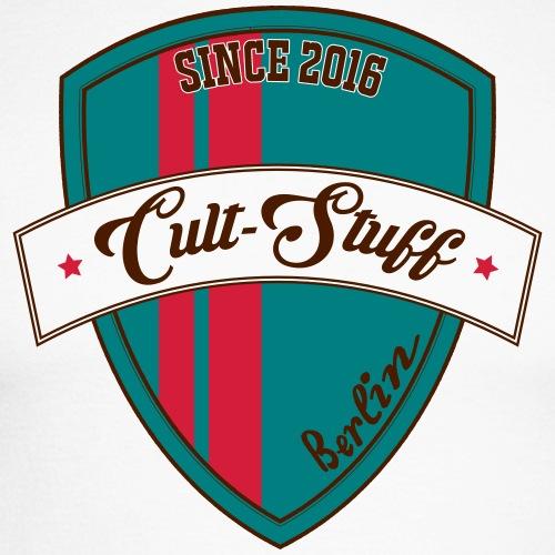 Cult Stuff - Logo grün rot - Männer Baseballshirt langarm
