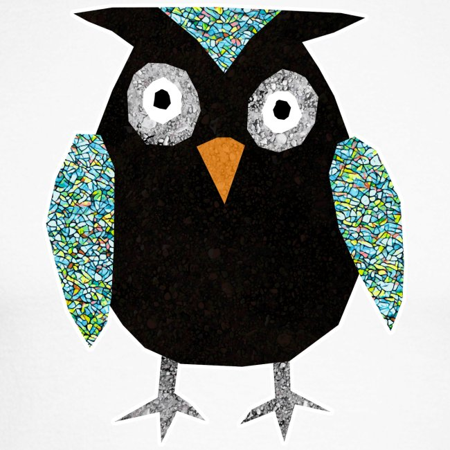 Collage mosaic owl