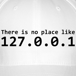 There is no place like 127.0.0.1 - Czapka z daszkiem flexfit