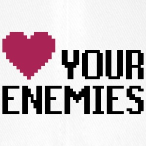 Love Enemies - Flexfit Baseballkappe