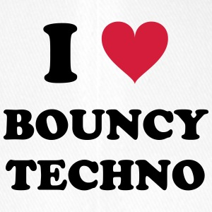 I LOVE BOUNCY TECHNO - Flexfit Baseballkappe