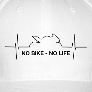 No_Bike_No_LIFE - Flexfit Baseballkappe