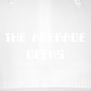 average_geeks_large_white - Flexfit Baseballkappe