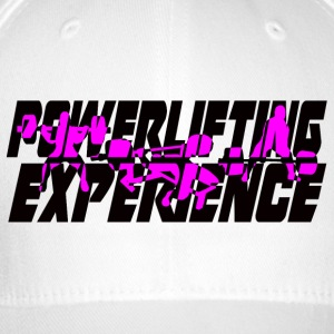 powerlifting EXPERIENCE black and purple - Flexfit Baseball Cap