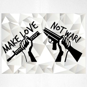 MAKE LOVE - NOT WAR! (Peace,Freedom,Anti War) - Flexfit Baseballkappe