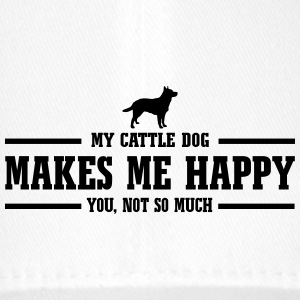CATTLE DOG makes me happy - Flexfit Baseballkappe