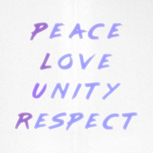 Peace Love Unity Respect P.L.U.R. blue purple - Flexfit Baseball Cap