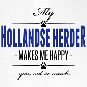 My Hollandse Herder makes me happy - Flexfit Baseballkappe