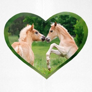 Haflinger foal funny friends with heart - Flexfit Baseball Cap