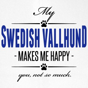 My Swedish Vallhund makes me happy - Flexfit Baseball Cap