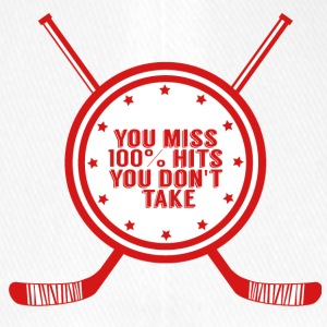 Hockey: You miss 100% hits you don't take - Flexfit Baseball Cap