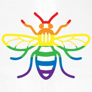 Gay Pride Bee - Flexfit baseballcap