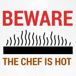 Koch / Chefkoch: Beware - The Chef Is Hot. - Flexfit Baseballkappe
