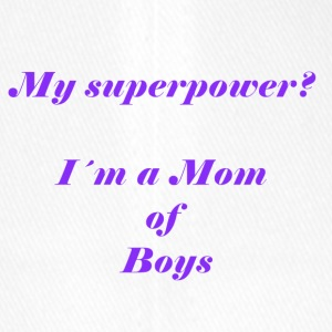 Superpower mom - lila - Flexfit Baseballkappe