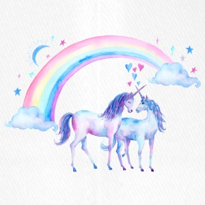Unicorn couples in love - Flexfit Baseball Cap