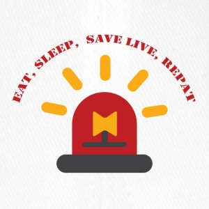 Fire Department: Eat, Sleep, Save Live, Repeat - Flexfit Baseball Cap