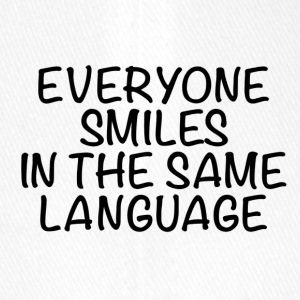 Everyone smiles in the same language - Flexfit Baseballkappe